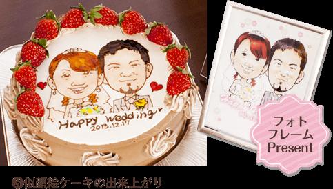 似顔絵ケーキ手順3