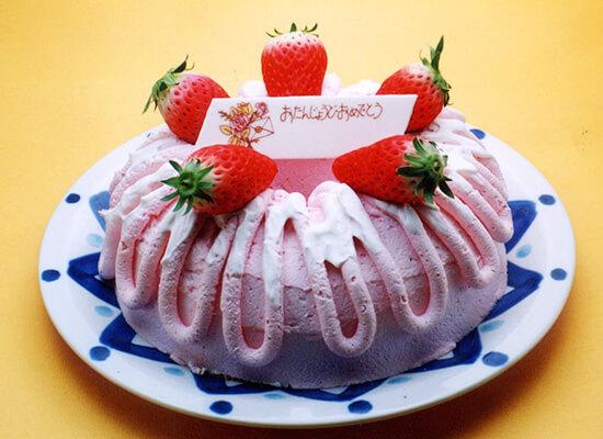 シフォンケーキ 苺クリーム